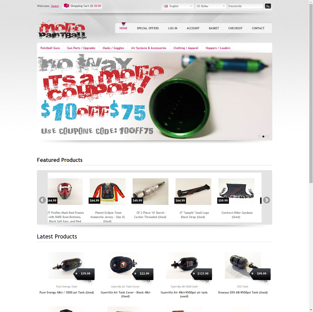 Mofo Paintball Web Design
