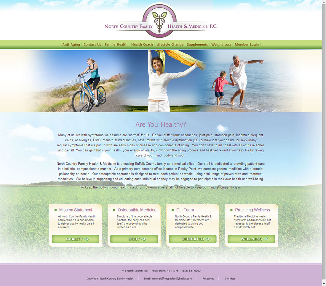 North Country Family Health Web Design