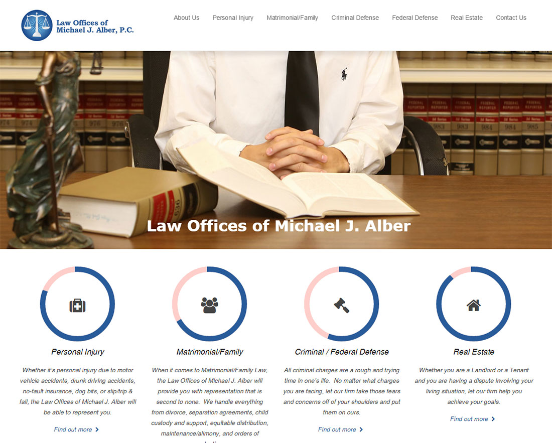 Law Offices of Michael J Alber Web Design